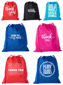 Image Is Loading Thank You Favor Bags Reusable Drawstring Gift