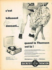 PUBLICITE ADVERTISING 045  1958  DUCRETET-THOMSON   éléctrophone valise 16 tours