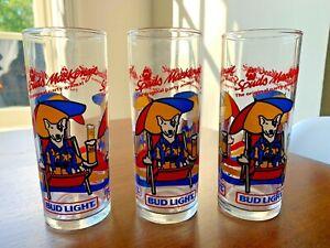 Lot-of-3-Vintage-Bud-Light-Spuds-Mackenzie-Party-Animal-Beer-Glasses-Budweiser