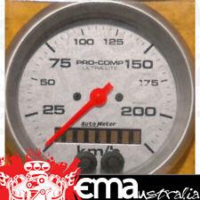 Speedometer 3 3//8 Carbon Fiber 3 3//8 Auto Meter AutoMeter 4780-M Gauge GPS 225Km//H