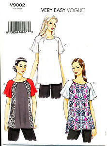 VOGUE-SEWING-PATTERN-9002-MISSES-16-24-LOOSE-FITTING-PULLOVER-TOPS-IN-PLUS-SIZES