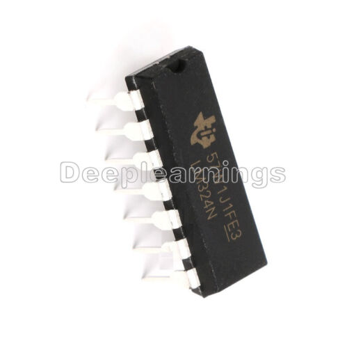 20 Pcs LM324N LM324 324 Low Power Quad Op-Amp IC TOP