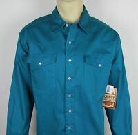 Mens Schmidt Workwear Shirt Long Sleeve Western Pearl Snap Canvas Size L