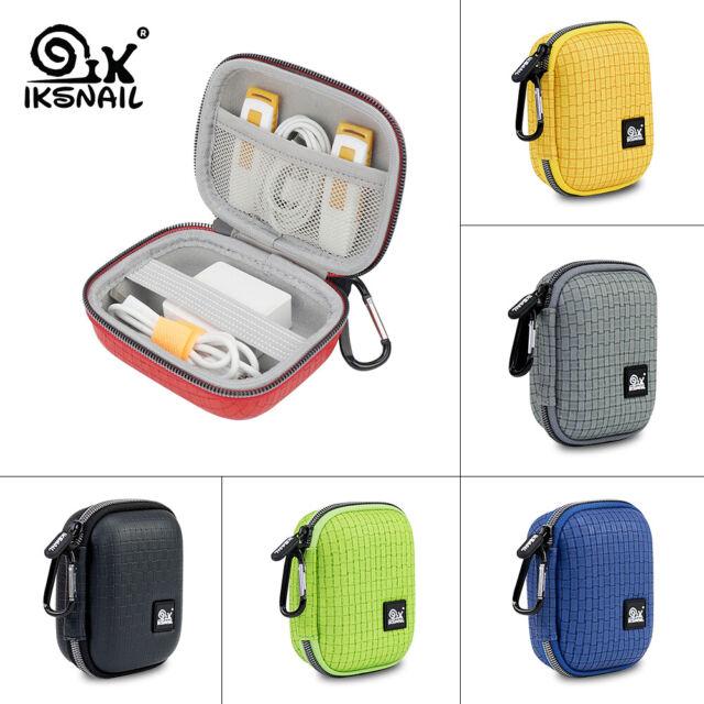 Earphone Holder Case Portable Hard Box Headphone Earbuds USB Cable Storage Bag
