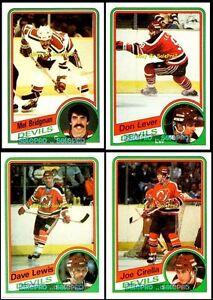 4x-TOPPS-1984-BRIDGMAN-84-JOE-CIRELLA-85-DAVE-LEWIS-87-LEVER-86-DEVILS-LOT