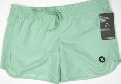 "Hurley Board Shorts Supersuede 31Z 5/"" Light Green Solid Elasticated Waist Surf"