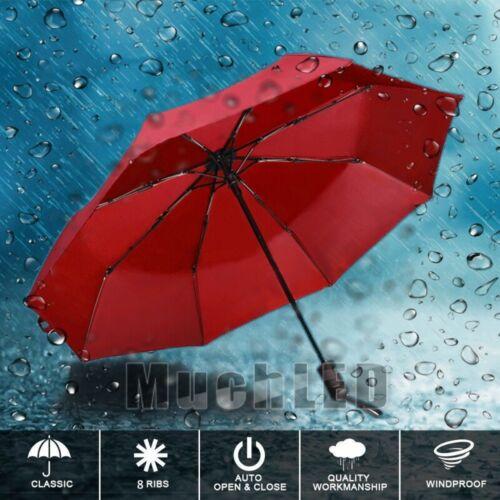 8 Ribs Travel Compact Folding Sun//Rain Umbrella Open//Close Waterproof Windproof