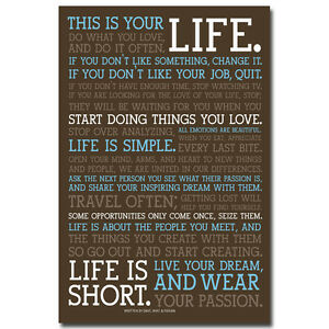 this is your life inspirational reading quotes silk