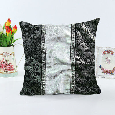 New Thick Black White Splice Throw Pillow Case Cushion Cover Sofa Home Decor 18""