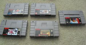 Lot of 5 Vintage Super Nintendo SNES Game Cartridges