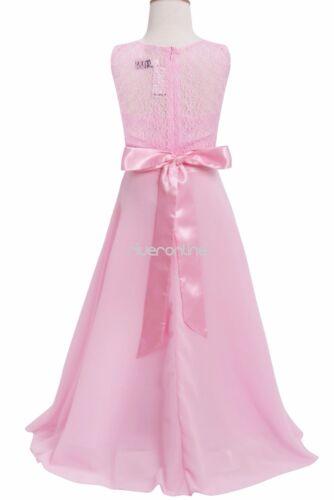 Filles Vêtements FETE longtemps Demoiselles D/'honneur Mariage Party Princesse Robe
