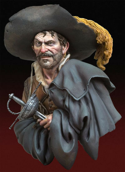 Andrea Miniatures The Looter Cavalier musketeer type 1 10th Bust Unpainted kit