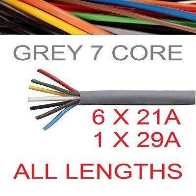 7 Core 12S Caravan grey Thinwall Automotive Cable Heavy Duty Towing Trailer 12v