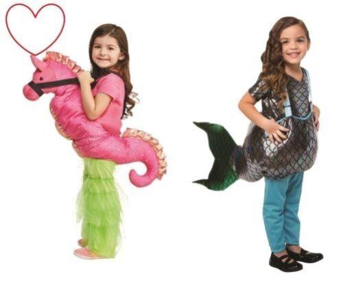 Mädchen Kostüm Buch Tag Kinder Meerjungfrau Seepferdchen Kostüm