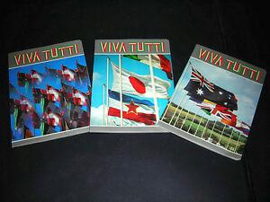 VIVA-TUTTI-SERIE-DI-3-QUADERNI-BANDIERE-FLAGS-ANNI-70