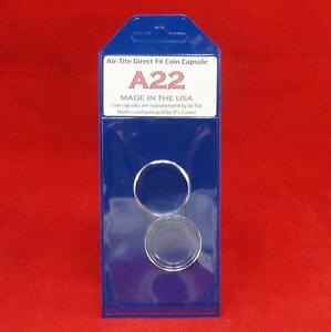 Individual Retail Pkg Model H39 Qty 50 AirTite Direct Fit Coin Holder Capsules