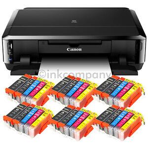 Canon-Pixma-IP7250-Drucker-CD-Bedruckung-Duplex-Foto-WLAN-USB-30x-XL-Tinte