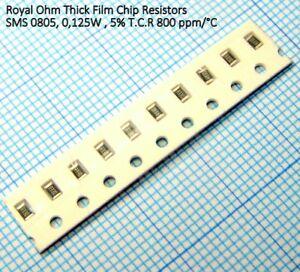 Resistenze SMD formato 0805 5/% 100 pezzi SMD Resistors 8,2 Ohm