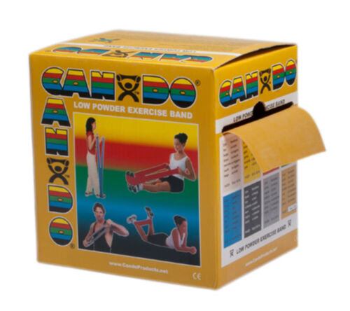 1215437 NEW 50 yard dispenser 2 25-yd boxes gold CanDo exercise band