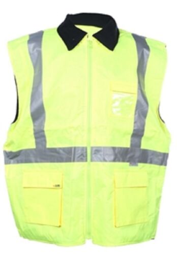6XL Yellow Fleece Lined Hi Vis Vest