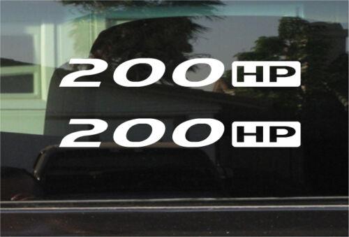 200 HP STICKER PAIR HORSEPOWER VINYL DECAL