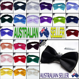 YOUNG-BOYS-BOW-TIE-kids-children-toddlers-Pre-tied-wedding-bowtie-CHOOSE-COLOUR