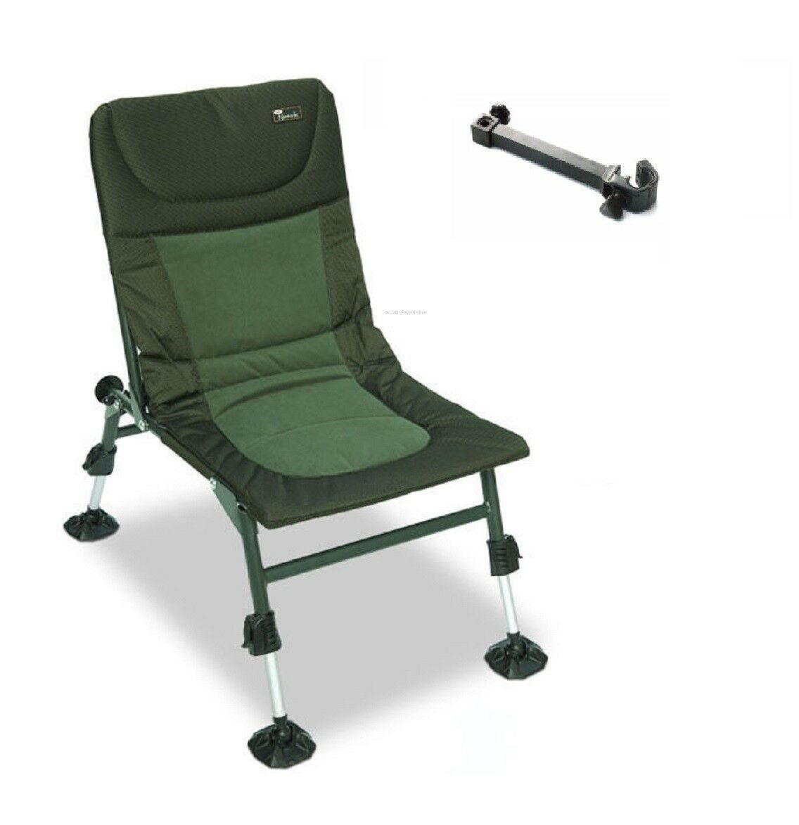 NGT Nomadic Lightweight Folding Carp Fishing Chair Mud Feet & Umbrella arm