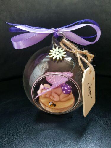 Unique Baby Sleeping Fairy à l/'intérieur de globe de verre