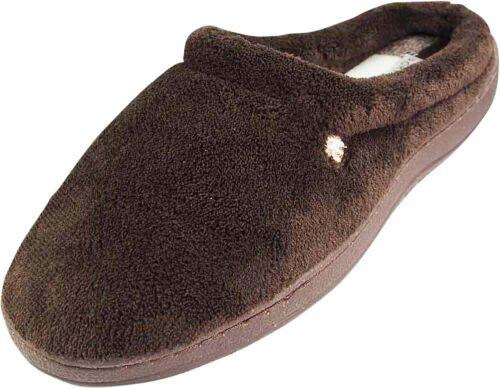 Perry Ellis Mens Memory Foam Clog Slipper Coral Fleece or Microsuede Gift Boxed