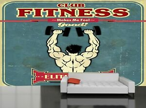 Details about Gym Poster Design Wall Mural Photo Wallpaper GIANT WALL DECOR  Free Glue