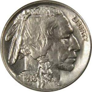 1938-D-5c-Indian-Head-Buffalo-Nickel-US-Coin-BU-Choice-Uncirculated-Mint-State