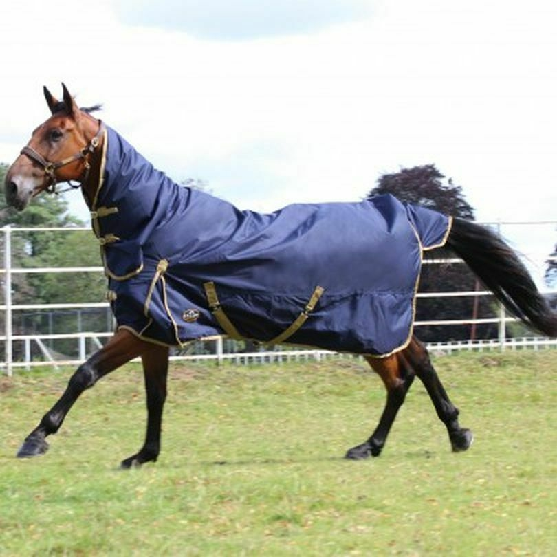GALLOP TROJAN 100 GRAM COMBO TURNOUT RUG NAVY/BEIGE ALL SIZES