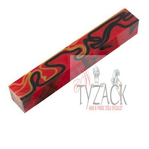 Blackjack Acrylic Pen Blank Red With Black /& Yellow Lines TY-BS31--BL by tyzack