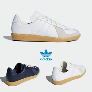 brand new 48bb8 34215 Image is loading Adidas-Original-BW-Army-Leather-Shoes-White-Navy-