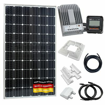 280W 12V/24V solar charging kit for motorhome, caravan, campervan, boat, CCTV