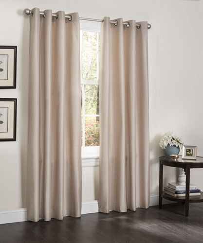 Blackout Room Darkening Window Curtain 55 x 84 Lined Heavy Thick Panel Erin 1pc