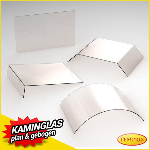 Kaminglas Ofenglas feuerfestes Glas selbstreinigend Kaminscheibe Ofen 390x600mm