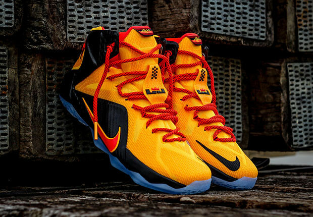 Nike Lebron XII 12 BRUCE LEE Witness CAVS Gold Yellow Orange Red Black KYRIE 10