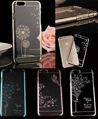 Stylish Clear Crystal Diamond Transparent Back Hard Case Cover For Apple iphones