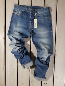 Rrp-143-Nuovo-Jeans-Diesel-Uomo-Buster-0839C-Regular-Slim-Tapered-Stonewashed