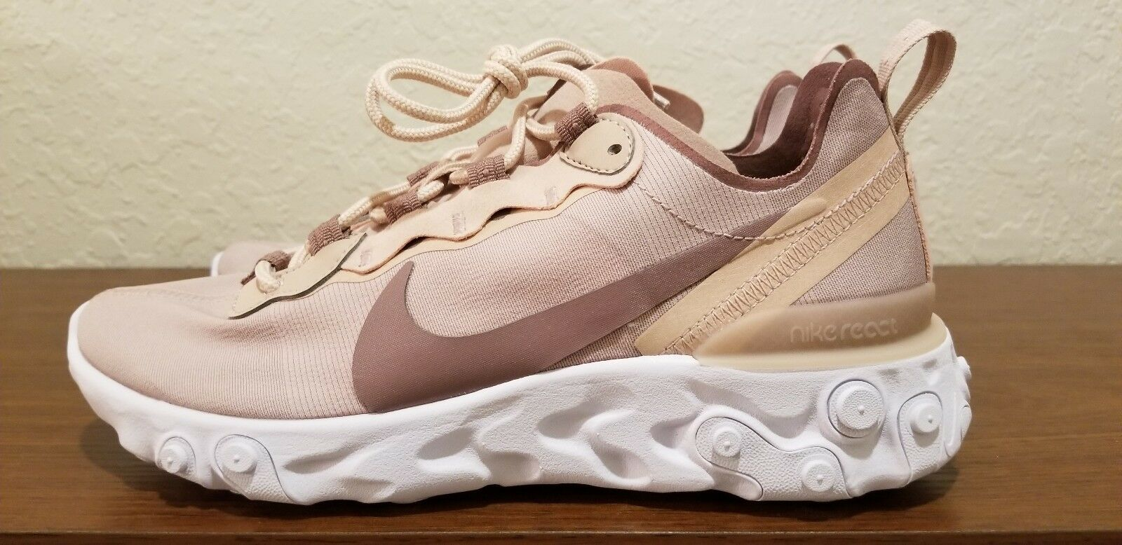 Women's Nike React Element 55 Running shoes Particle Beige BQ2728-200 Size 7