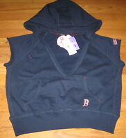 Touch Xl Boston Red Sox Blue Cropped Sweat Shirt Hoodie Pullover