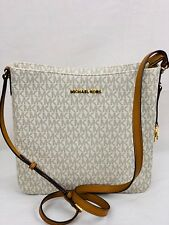 93707dd507 item 2 MICHAEL KORS MK LOGO PVC JET SET TRAVEL MESSENGER VANILLA BAG OR  TRIFOLD WALLET -MICHAEL KORS MK LOGO PVC JET SET TRAVEL MESSENGER VANILLA  BAG OR ...