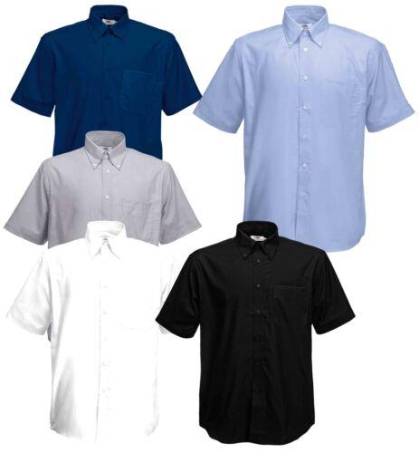 Fruit Of The Loom Mens Men/'s Oxford Buttons Plain Cadat collar Shirts