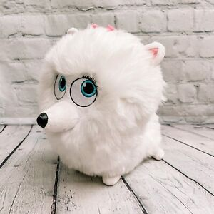 "The Secret Life of Pets Gidget Plush Stuffed Animal White Dog Spin master 12"""