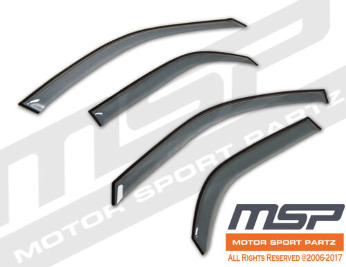 Ash Grey Outside Mount JDM Vent Visors Deflector 4pcs For Hyundai Elantra 07-10