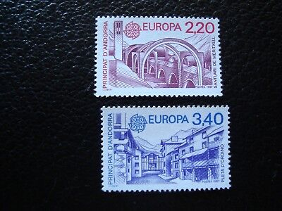- Timbre Yvert/tellier N° 358 359 N** Mnh Honest Andorre col1 In a Quality francais Superior