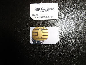 Details about *NEW NEXTEL BOOST MOBILE IDEN SIM CARD FOR iDEN SERVICE ONLY*  READY FOR USE