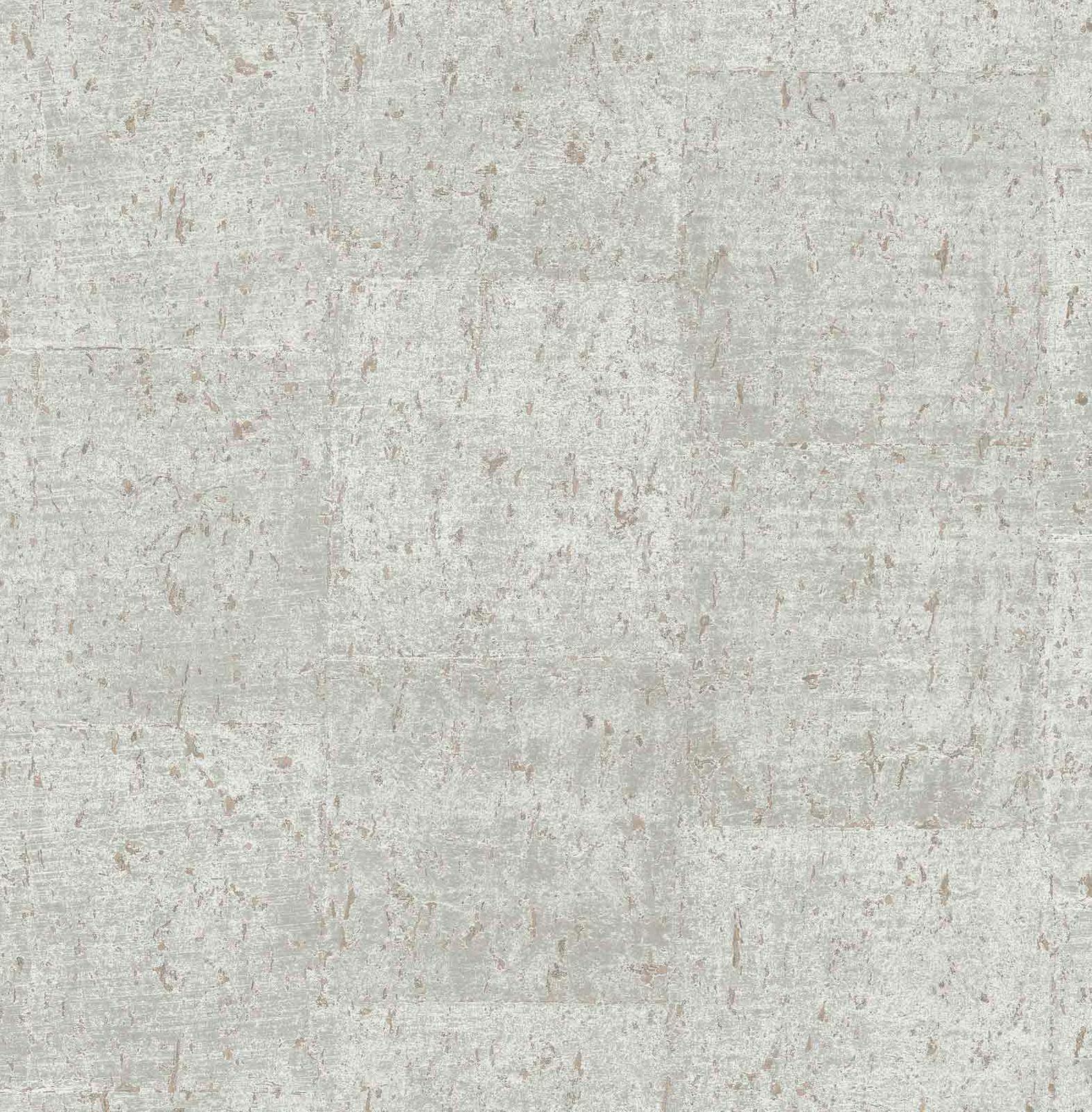 Vliestapete Kork meliert grau rotbraun Glanz Rasch Textil 124950 (  1qm)
