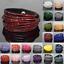 Leather-Wrap-Wristband-Cuff-Crystal-Rhinestone-Multilayer-Bracelet-Bangle-xinyu thumbnail 3